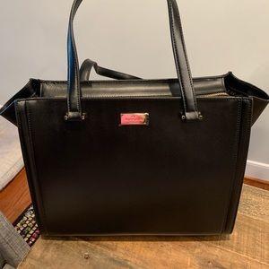 Kate Spade Black Leather Regatta Court Tote Bag